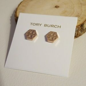 Tory Burch hexagon earrings